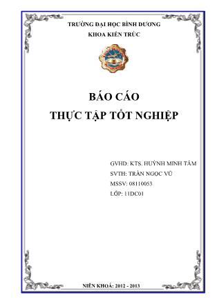 Báo cáo thực tập Tốt nghiệp - Huỳnh Minh Tâm