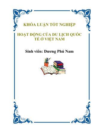 Hoạt động của du lịch quốc tế ở Việt Nam