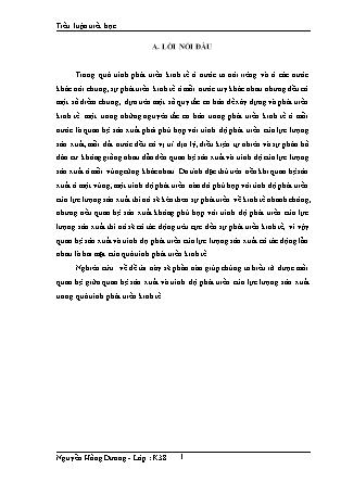 Tiểu luận Triết học - Nguyễn Hồng Dương