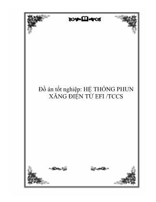 Đồ án Hệ thống phun xăng điện tử EFI/TCCS