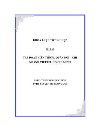 Khóa luận Tập đoàn viễn thông quân đội – Chi nhánh Viettel Hồ Chí Minh