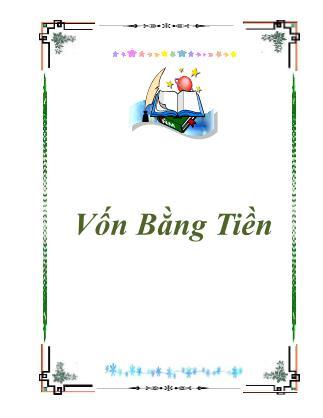 Luận văn Vốn bằng tiền - Vũ Mạnh Sơn
